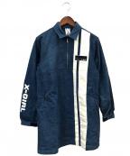 X-GIRL(エックスガール)の古着「デニムシャツワンピース」|ブルー