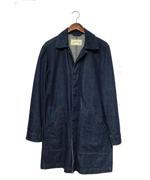 WORLD WORKERS(ワールドワーカーズ)WORLD WORKERS (ワールドワーカーズ) デニムシングルコート インディゴ サイズ:Mの古着・服飾アイテム