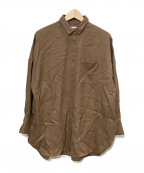 upper hights(アッパーハイツ)の古着「ワイドシャツ」|ブラウン