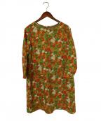 Jocomomola(ホコモモラ)の古着「ブラウスワンピース」|オリーブ