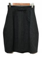 FOXEY(フォクシー)の古着「フレアスカート」|ダークグレー