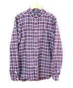()の古着「チェックシャツ」 ブルー×レッド