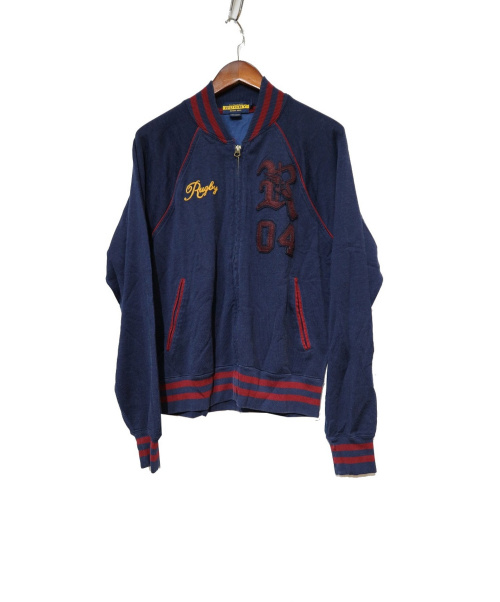 Rugby Ralph Lauren(ラグビーラルフローレン)Rugby Ralph Lauren (ラグビーラルフローレン) ジップアップブルゾン ネイビー サイズ:Mの古着・服飾アイテム