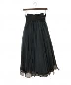 Belle vintage(ベル ビンテージ)の古着「デニムドッキングチュールスカート」 ブラック