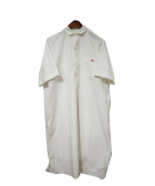 DANTON(ダントン)の古着「コットンポプリンシャツワンピース」|ホワイト