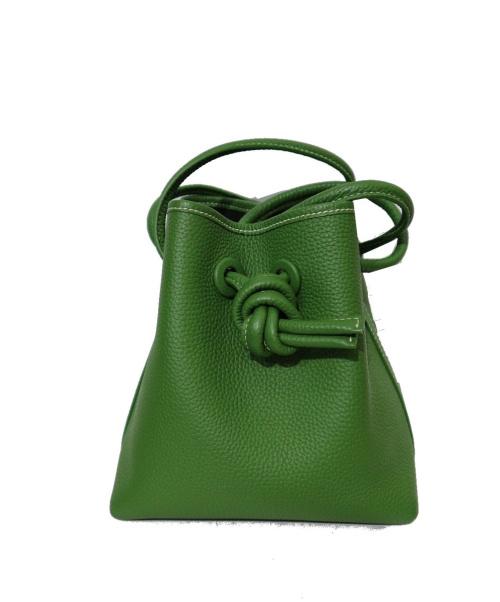 VASIC(ヴァジック)VASIC (ヴァジック) ハンドバッグ グリーンの古着・服飾アイテム