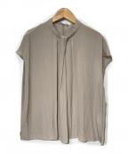 RIVE DROITE(リヴドロウ)の古着「【手洗い可】タックボウフレンチブラウス」 ベージュ