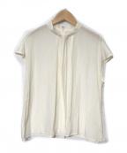 RIVE DROITE(リヴドロウ)の古着「【手洗い可】タックボウフレンチブラウス」 アイボリー