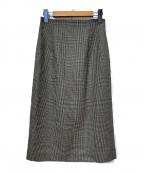 INDIVI(インディビ)の古着「チェックスカート」 ベージュ