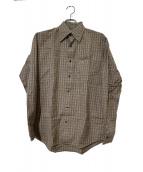 BURBERRY BLACK LABEL(バーバリーブラックレーベル)の古着「ノヴァチェックシャツ」|ベージュ