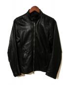 ()の古着「シングルレザージャケット」|ブラック