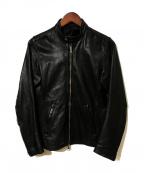 SHIPS JET BLUE(シップスジェットブルー)の古着「シングルレザージャケット」 ブラック