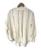()の古着「ストライプボウタイシャツ」|アイボリー