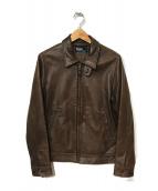 POLO RALPH LAUREN(ポロ・ラルフローレン)の古着「レザージャケット」|ブラウン