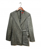 DES PRES()の古着「ノーカラージャケット」 グレー