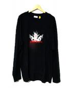 MONCLER ×palm angels(モンクレール×パームエンジェルス)の古着「MIND CONTROL ロングTシャツ」|ブラック