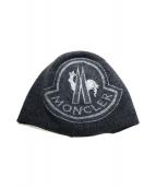 MONCLER(モンクレール)の古着「カシミヤ混ロゴニットキャップ」|グレー
