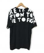 MARTIN MARGIELA(マルタン・マルジェラ)の古着「オーバーサイズエイズTシャツ」|ブラック
