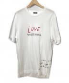 ERMENEGILDO ZEGNA(エルメネジルド・ゼニア)の古着「プリントTシャツ」|ホワイト