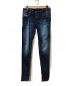 DIESEL()の古着「デニムジョグパンツ」 ブルー