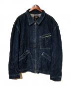 RRL(ダブルアールエル)の古着「デニムジップアップジャケット」|インディゴ