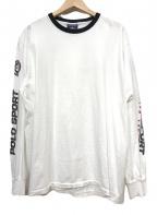 POLO SPORT(ポロスポーツ)の古着「スリーブロゴTEE」|ホワイト