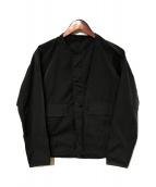 Barbour(バブアー)の古着「ノーカラージャケット」|グレー
