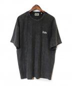 KITH(キス)の古着「ロゴ刺繍ガーメントダイTEE」 ブラック