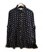 NEON SIGN(ネオンサイン)の古着「シルク混シャツ」|ネイビー