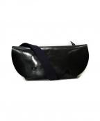 Uni & Co(ユニアンドコー)の古着「レザーメッセンジャーバッグ」|ブラック