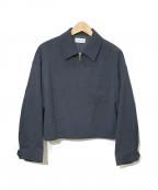 PLST(プラステ)の古着「ウールブレンドジップジャケット」|ネイビー