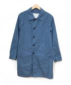 ROSSO()の古着「ステンカラーコート」|ブルー