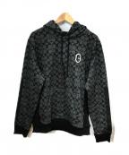 COACH(コーチ)の古着「シグネチャーロゴパーカ」|ブラック