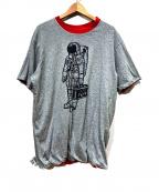 BILLIONAIRE BOYS CLUB(ビリオネアボーイズクラブ)の古着「リバーシブルプリントTシャツ」 ブラック
