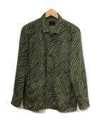 Hysteric Glamour()の古着「STBM RACING刺繍シャツジャケット」|グリーン