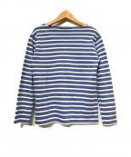 SAINT JAMES(セントジェームス)の古着「バスクシャツ」 ブルー