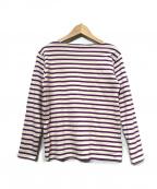 SAINT JAMES(セントジェームス)の古着「バスクシャツ」 パープル