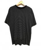 CLANE HOMME(クラネ オム)の古着「ボーダーカットソー」|ブラック