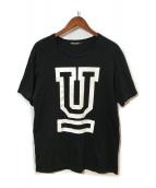 ()の古着「UロゴTEE」|ブラック