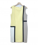 Calvin Klein(カルバンクライン)の古着「ノースリーブワンピース」|イエロー