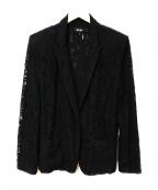 DKNY(ダナキャランニューヨーク)の古着「レースジャケット」 ブラック