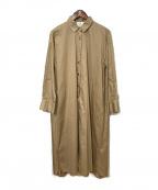 1er Arrondissement(プルミエ アロンディスモン)の古着「シャツワンピース」|ベージュ