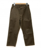 POST OALLS(ポストオーバーオールズ)の古着「ベイカーパンツ」|ブラウン