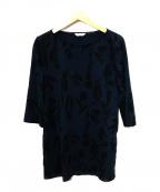 marimekko(マリメッコ)の古着「プリントチュニック」 ネイビー