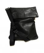 agnes b(アニエスベー)の古着「レザーショルダーバッグ」|ブラック