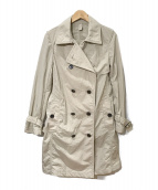 ()の古着「ナイロントレンチコート」|ベージュ