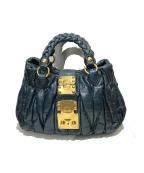 MIU MIU()の古着「2wayハンドバッグ」|ターコイズ
