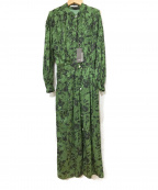 A PUPIL()の古着「ジャガードワンピース」|グリーン