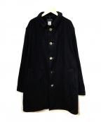 CORONA()の古着「ウール混コート」|ネイビー