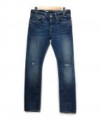 RRL(ダブルアールエル)の古着「デニムパンツ」|ブルー